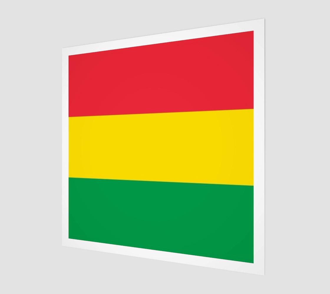 Aperçu de Rasta Colors Green Yellow Red Stripes Pattern #1