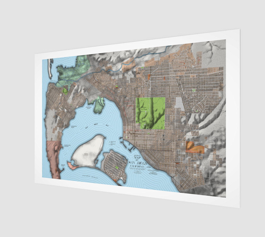 Historical Map of San Diego California preview #1