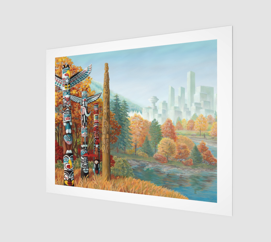 Vancouver Canada Landscape Painting - Two Worlds Collide preview #1