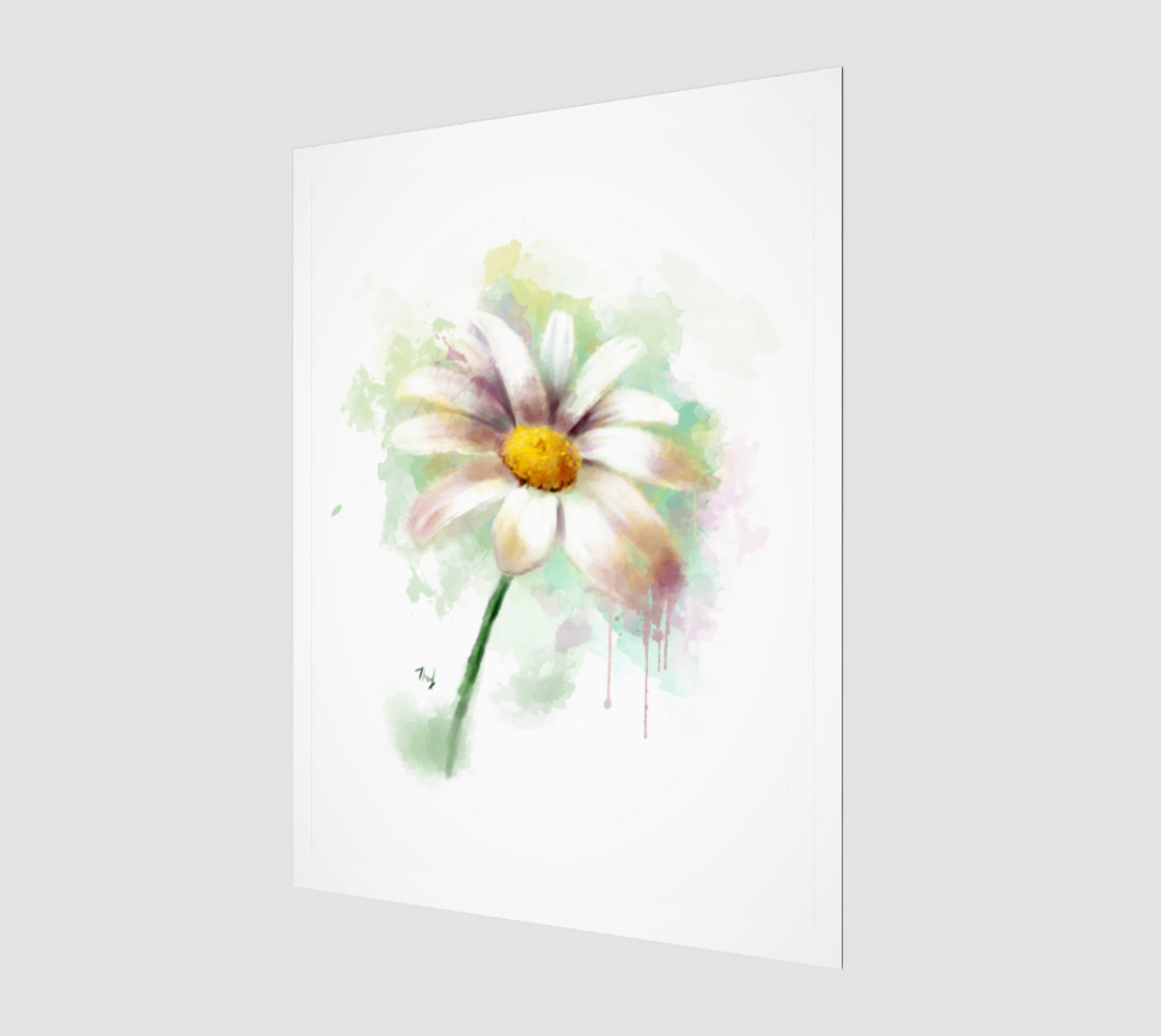 Watercolor daisy preview #1