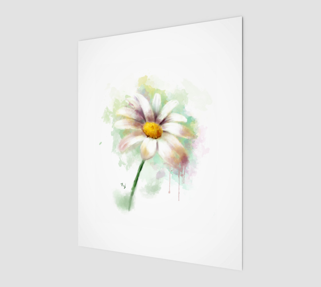 Daisy Watercolor Painting preview #1