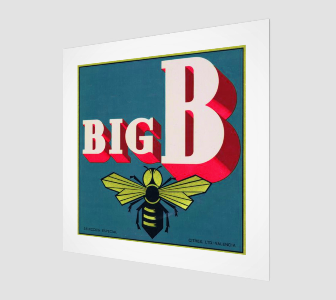 Big B Spanish fruit crate label print preview #1