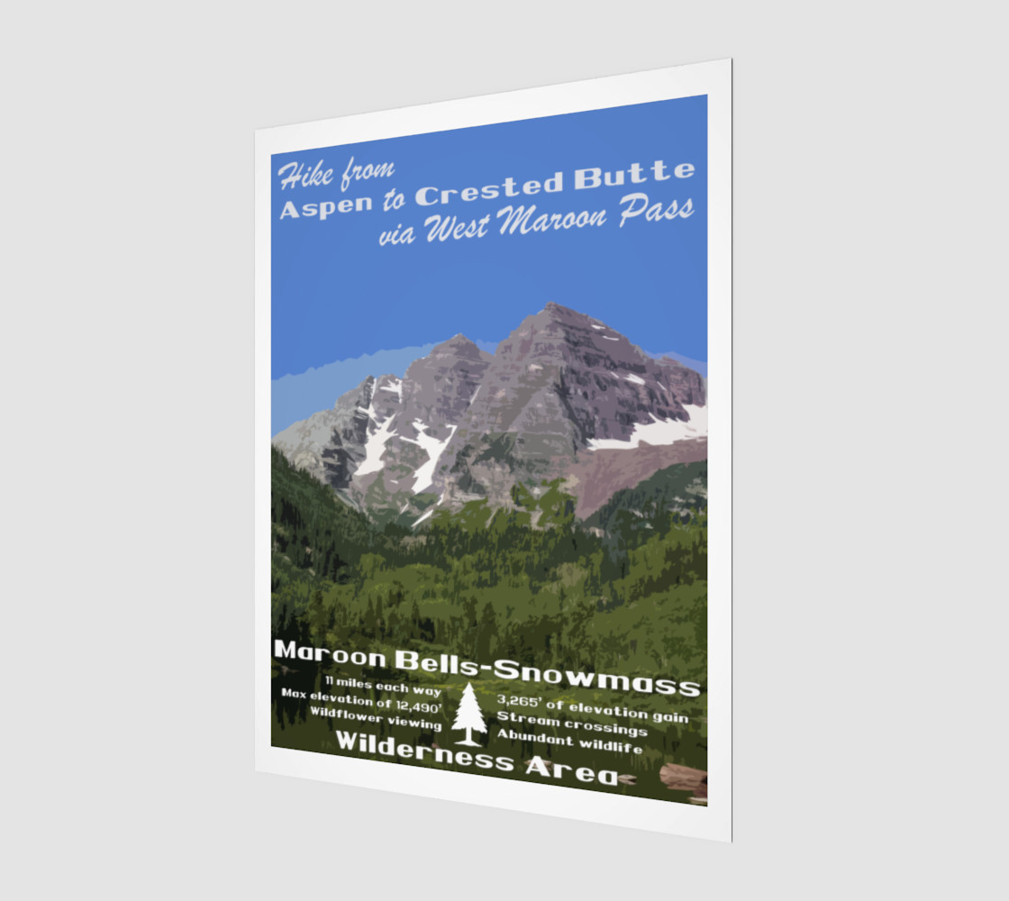 Aspen to Crested Butte art print preview #1