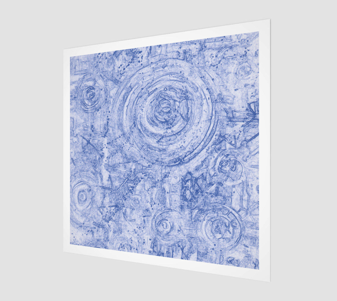 Blue and White Circles preview #1