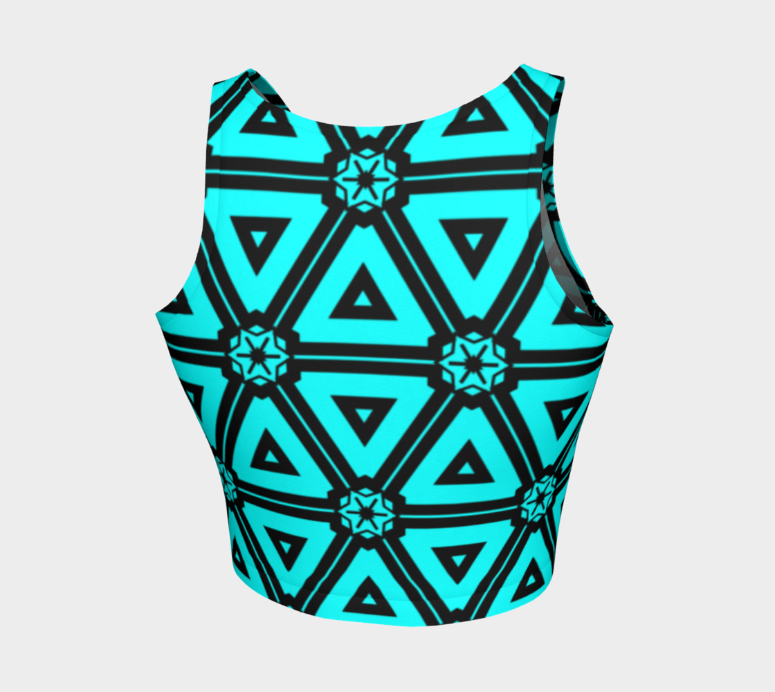 Turquoise crop top preview #2