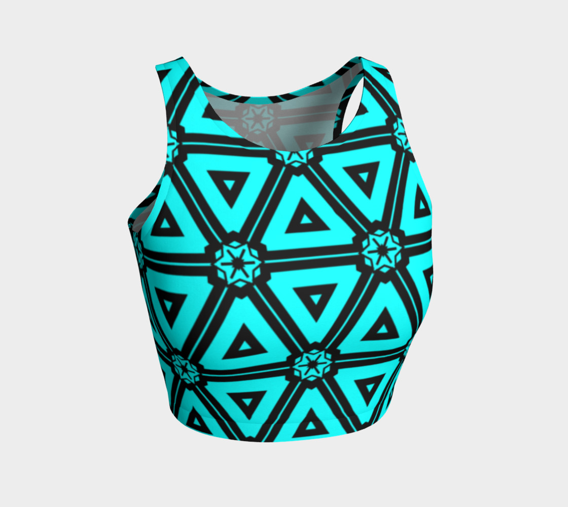 Turquoise crop top preview #1