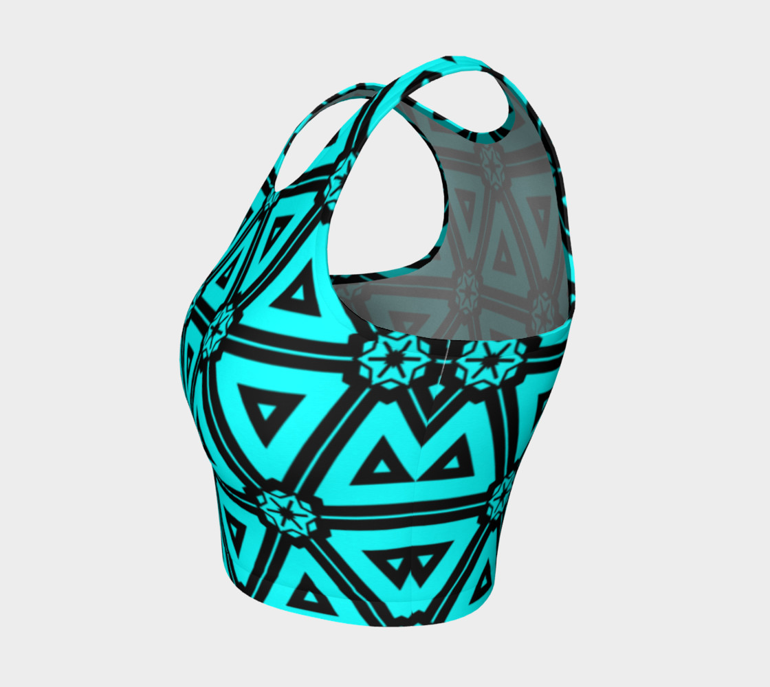 Turquoise crop top preview #3