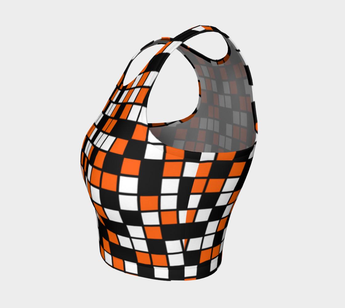 Aperçu de Orange, Black, and White Random Mosaic Squares #3