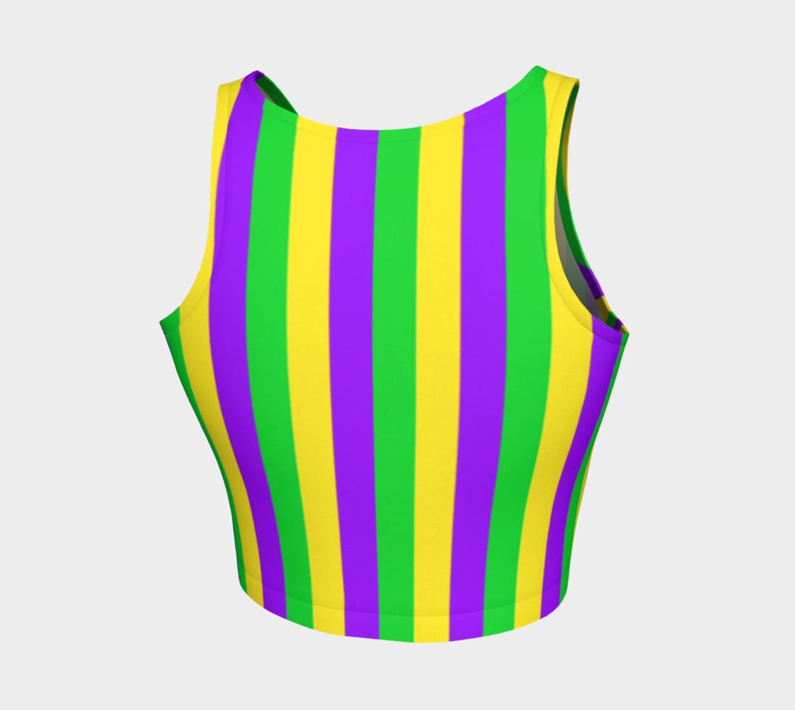 Aperçu de Mardi Gras Purple, Green, and Gold Vertical Stripes #2