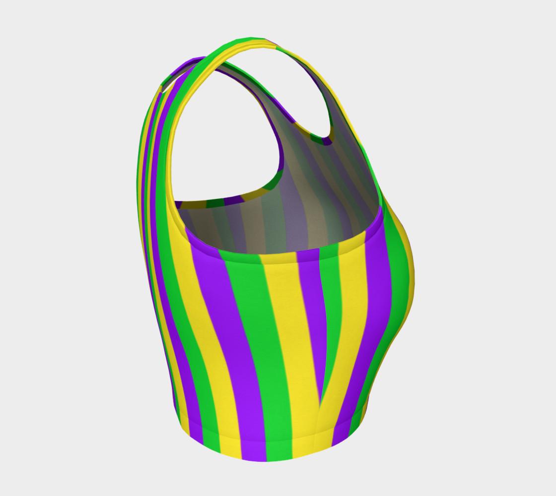 Aperçu de Mardi Gras Purple, Green, and Gold Vertical Stripes #4