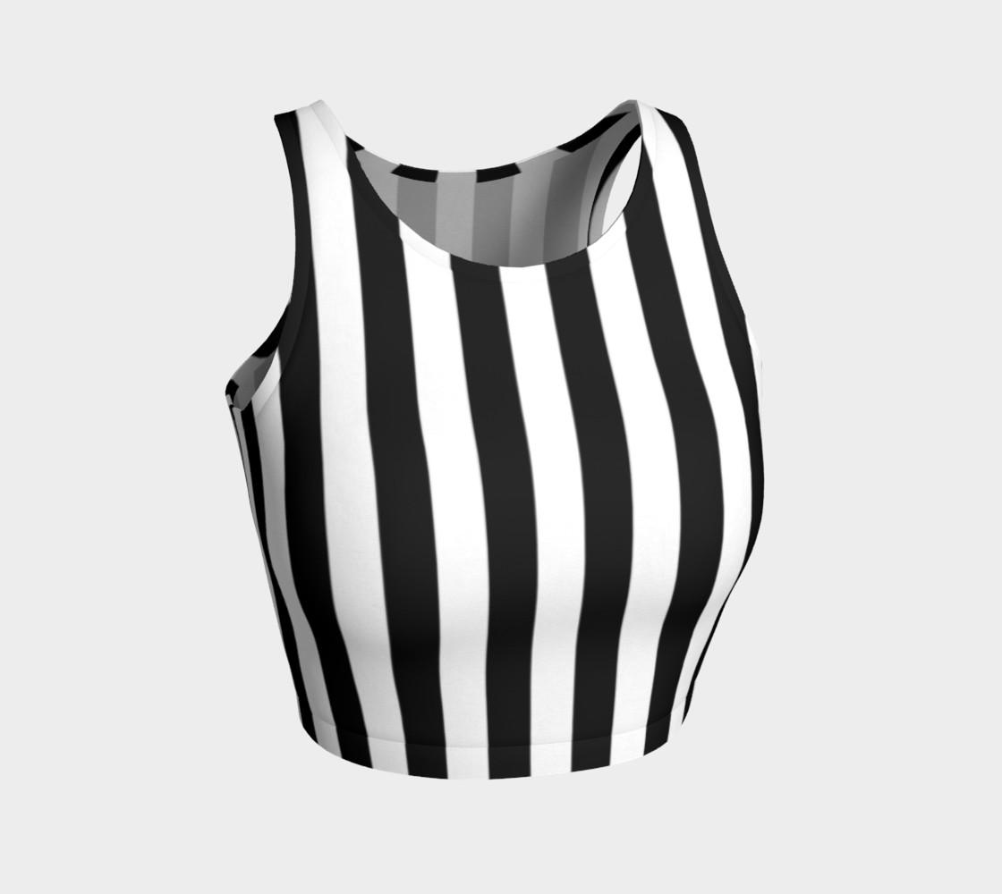 Aperçu de Black and White Vertical Stripes #1