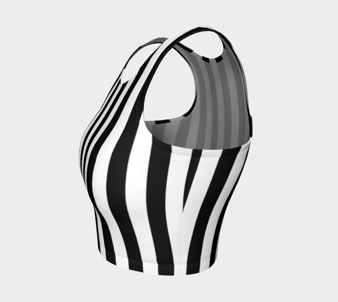Aperçu de Black and White Vertical Stripes #3