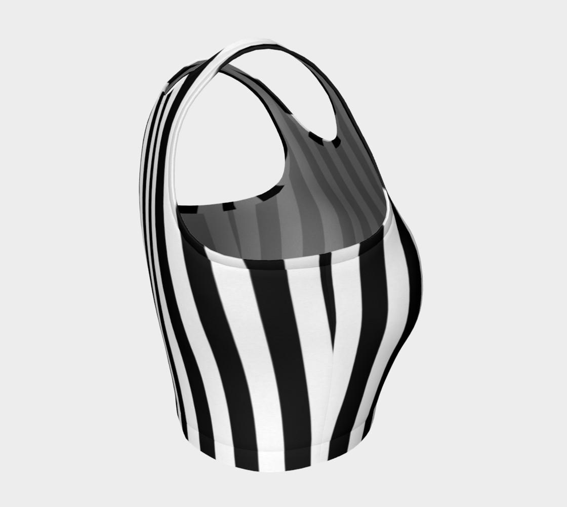 Aperçu de Black and White Vertical Stripes #4