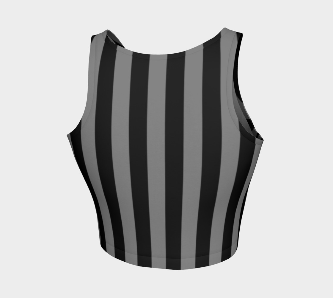 Aperçu de Black and Medium Grey Vertical Stripes #2