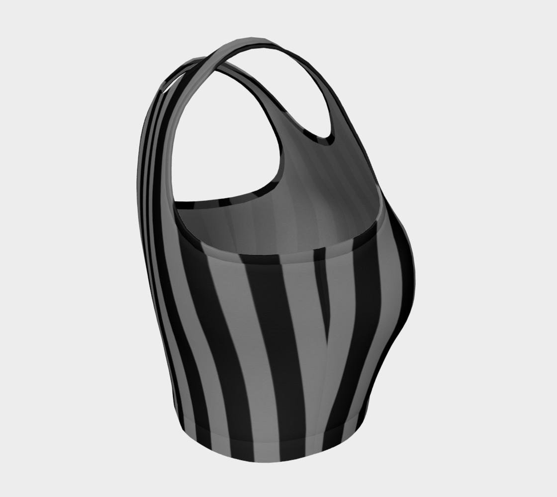 Aperçu de Black and Medium Grey Vertical Stripes #4