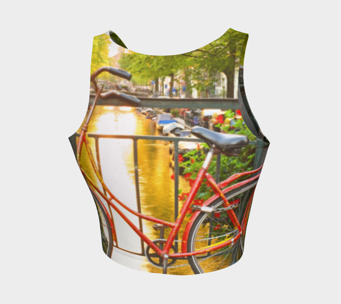 Amsterdam bike athletic crop top thumbnail #3