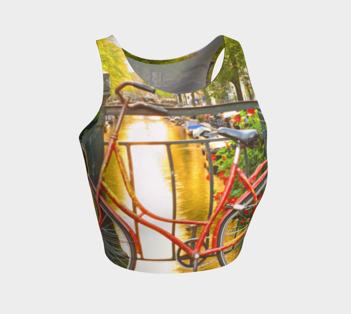 Amsterdam bike athletic crop top 3D preview