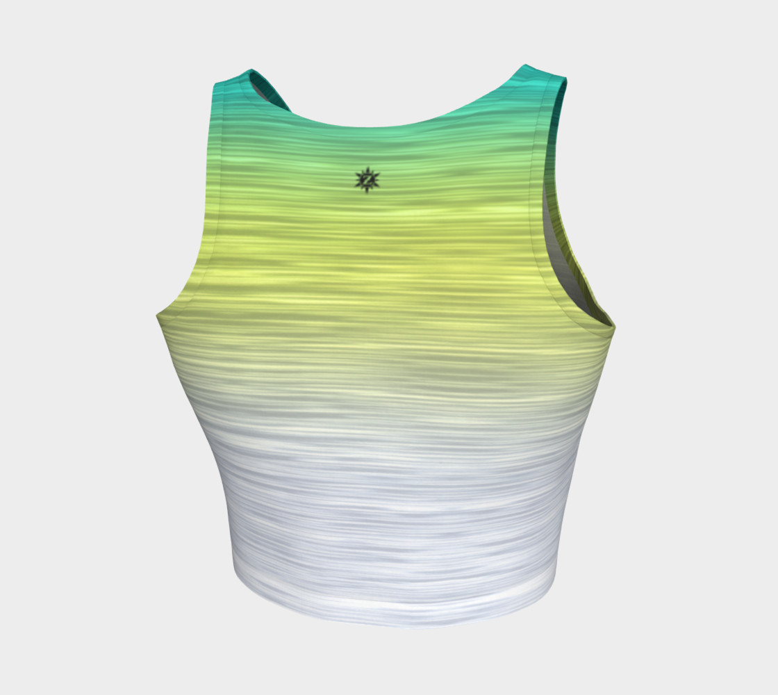 Rainbow Ombre White Yellow Turquoise preview #2