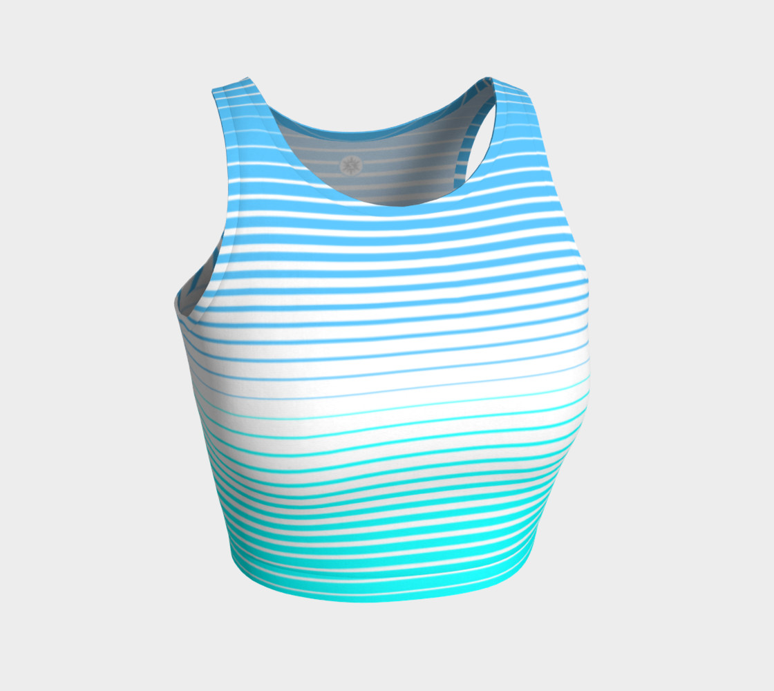 Ombre Stripe White Turquoise Sky preview #1