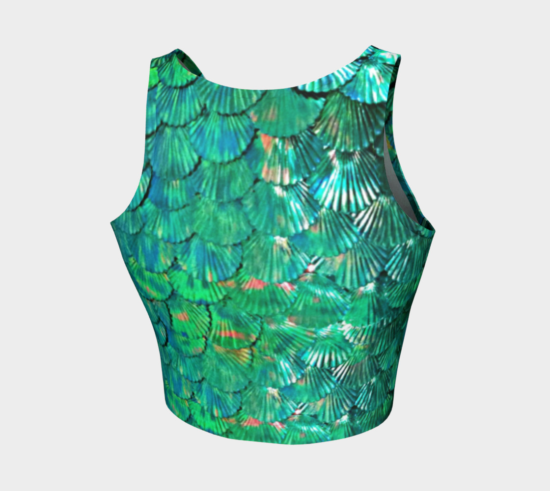 """Fish Please"" Mermaid Scale Crop Top preview #2"
