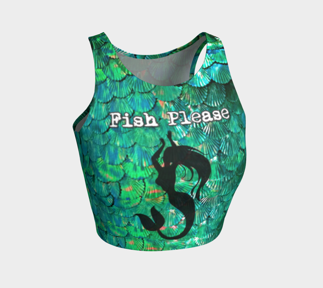 """Fish Please"" Mermaid Scale Crop Top preview #1"