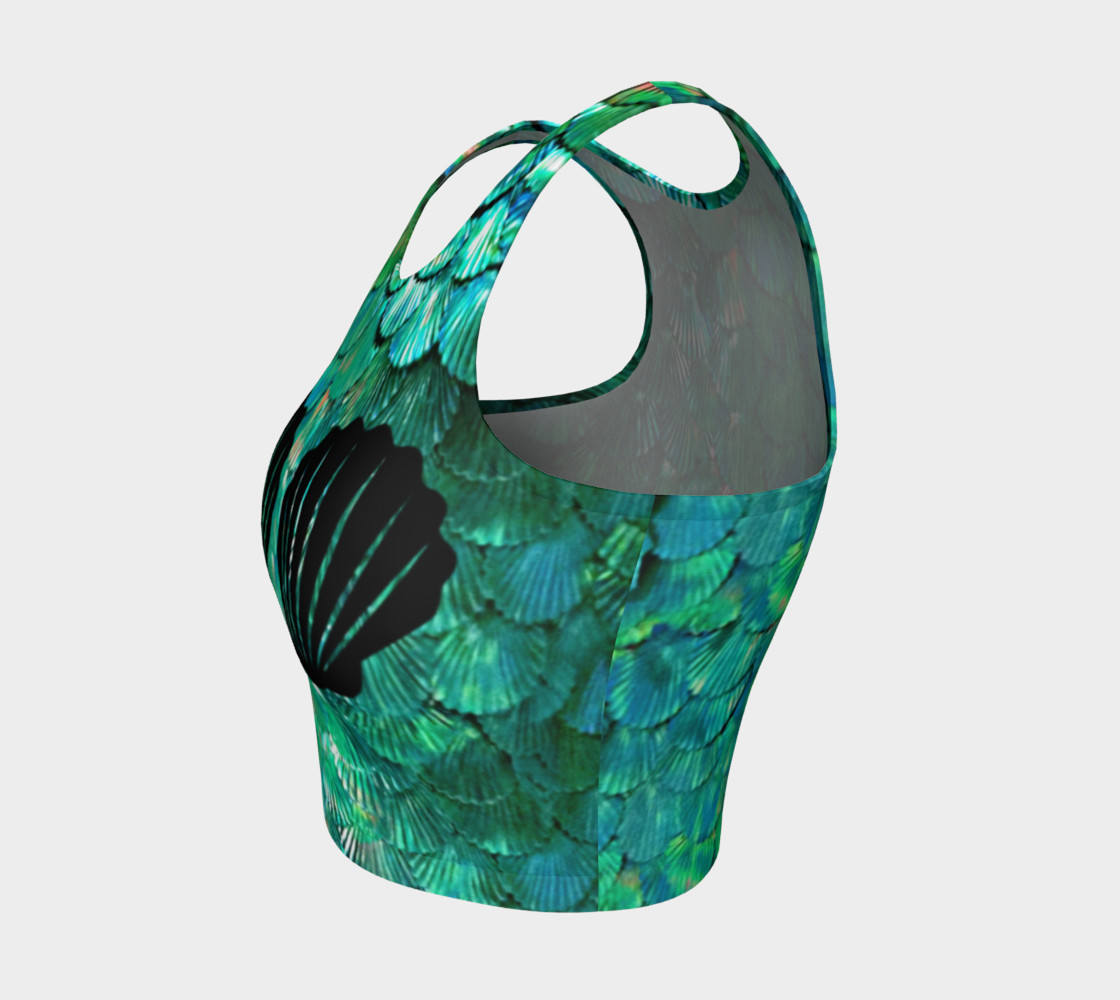 Mermaid Shell Green Scale Crop Top preview #3