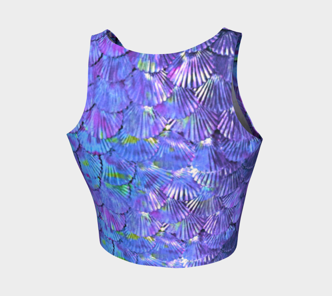 Purple Shell Mermaid Scale Crop Top preview #2