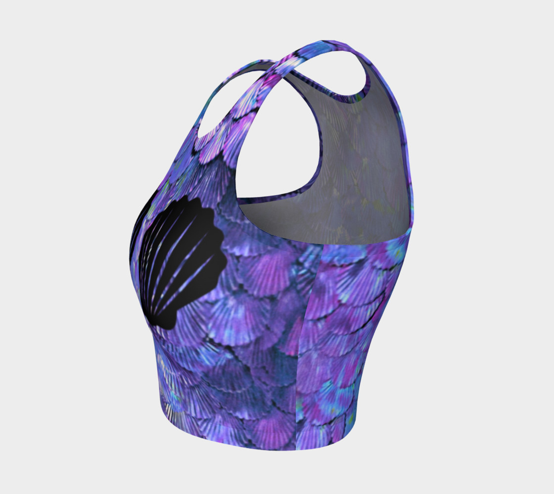Purple Shell Mermaid Scale Crop Top preview #3