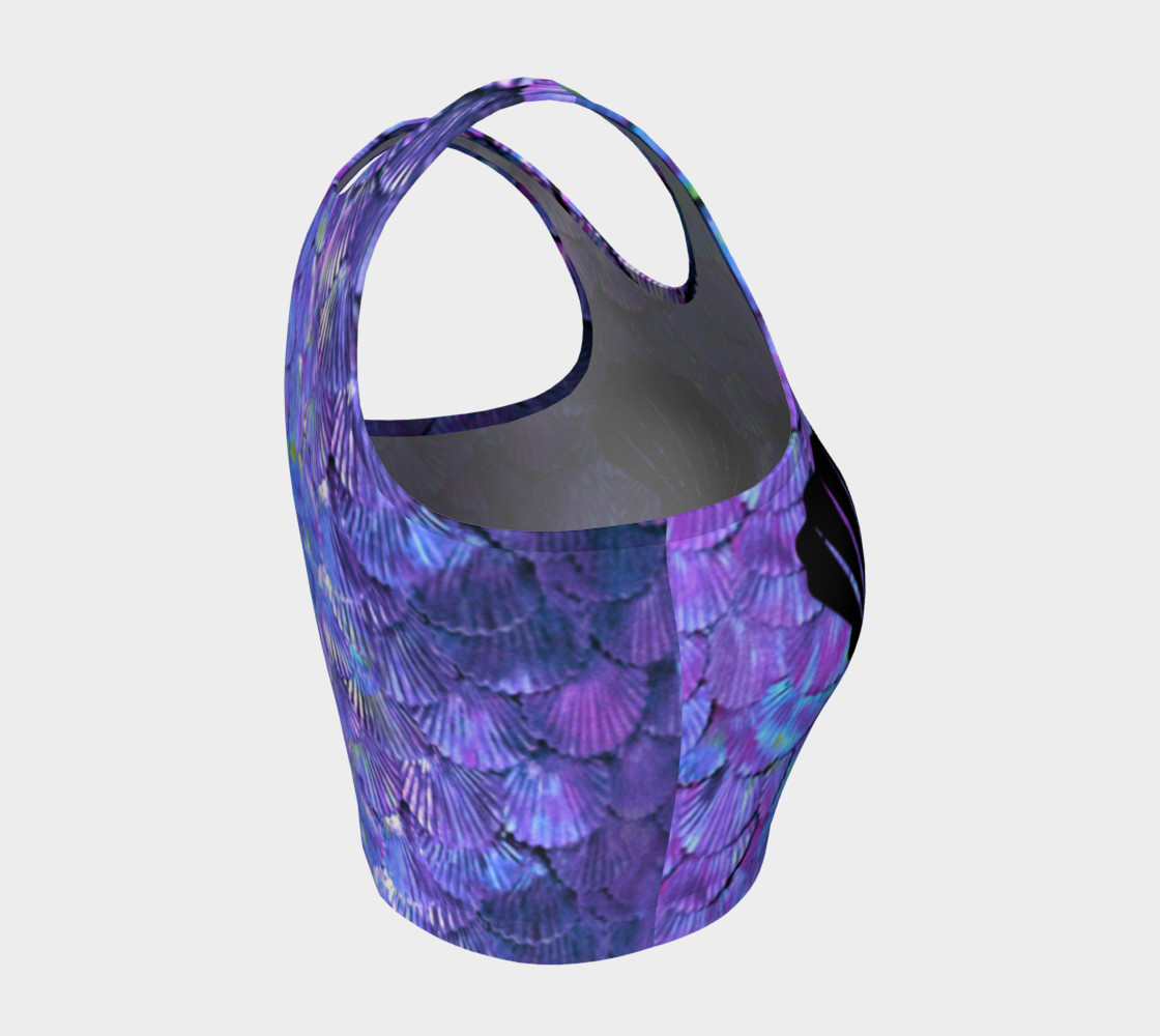 Purple Shell Mermaid Scale Crop Top preview #4