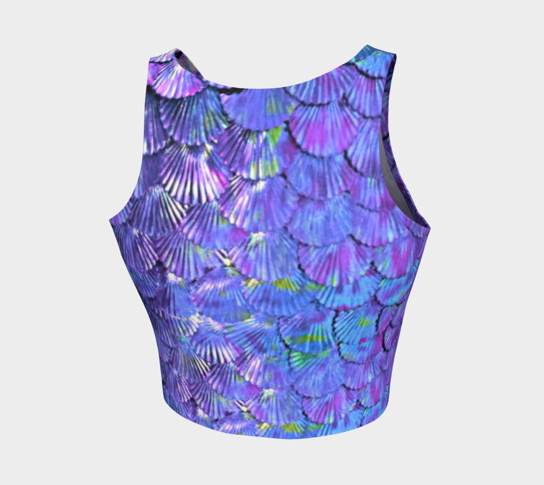 Purple Mermaid Scale Crop Top  preview #2