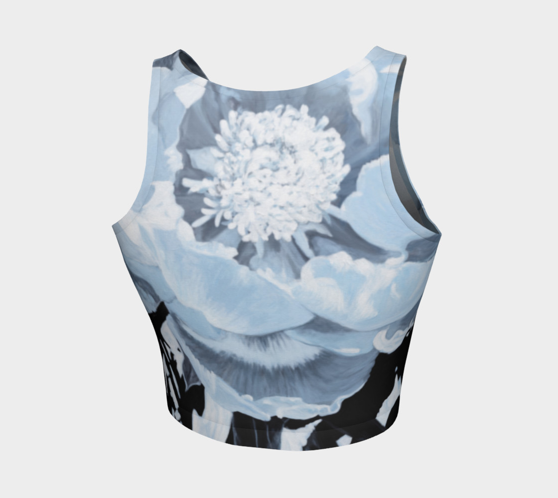 """Aperçu de """"A Peony For Your Thoughts"""" Athletic Crop Top #2"""