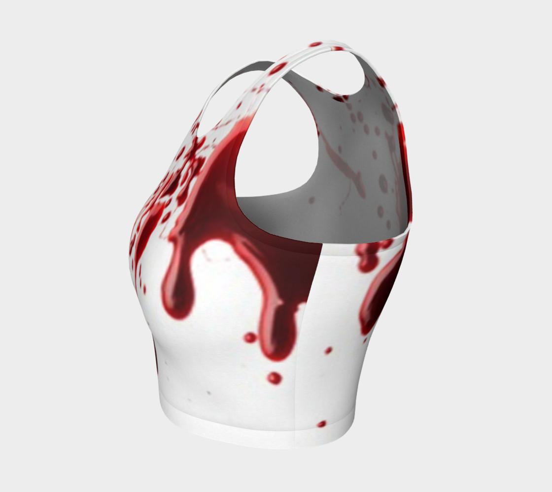 Blood Splatter three athletic crop top preview #3