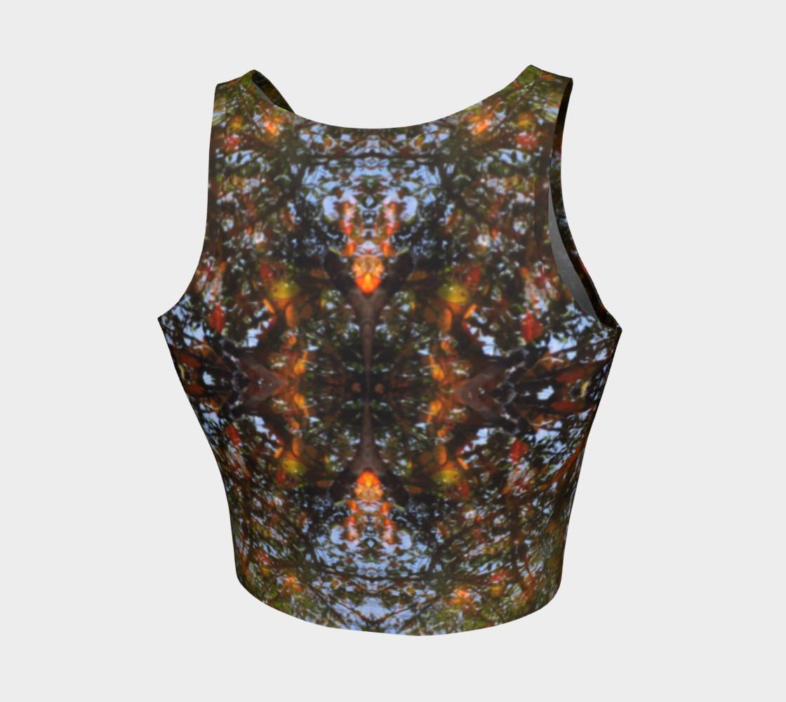 Ripple and Leaf Athletic Crop Top preview #2