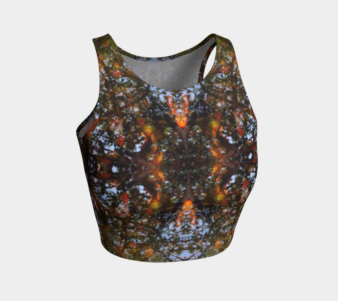 Ripple and Leaf Athletic Crop Top preview #1