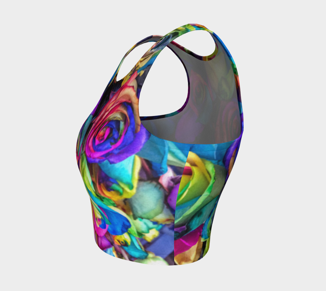 Rainbow Rose Athletic Crop Top preview #3