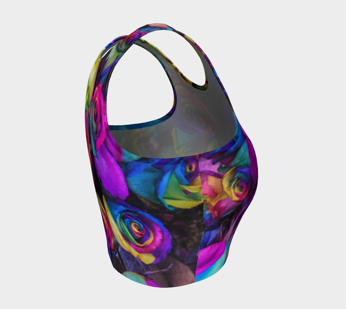 Rainbow Rose Athletic Crop Top preview #4