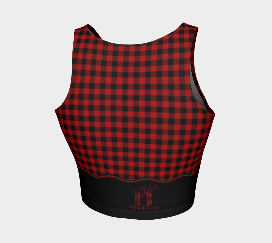 Attitude 13 Red Flannel Design  Crop Top preview #2