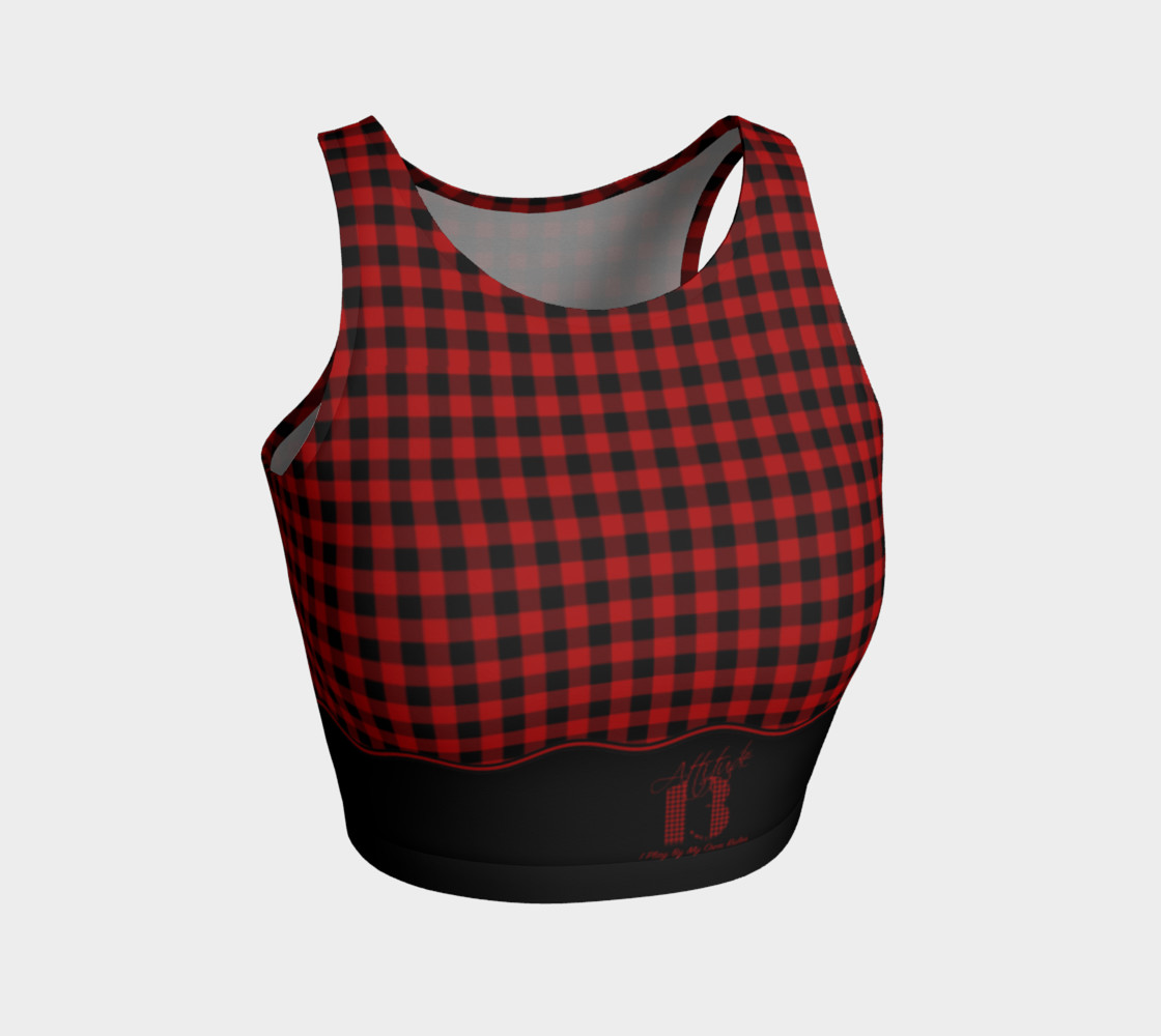 Attitude 13 Red Flannel Design  Crop Top preview #1