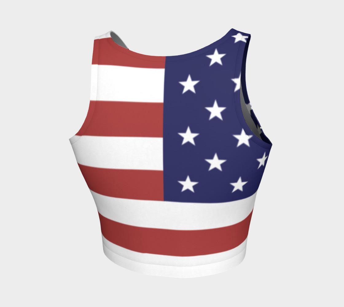 Aperçu de American Flag Crop Top #2