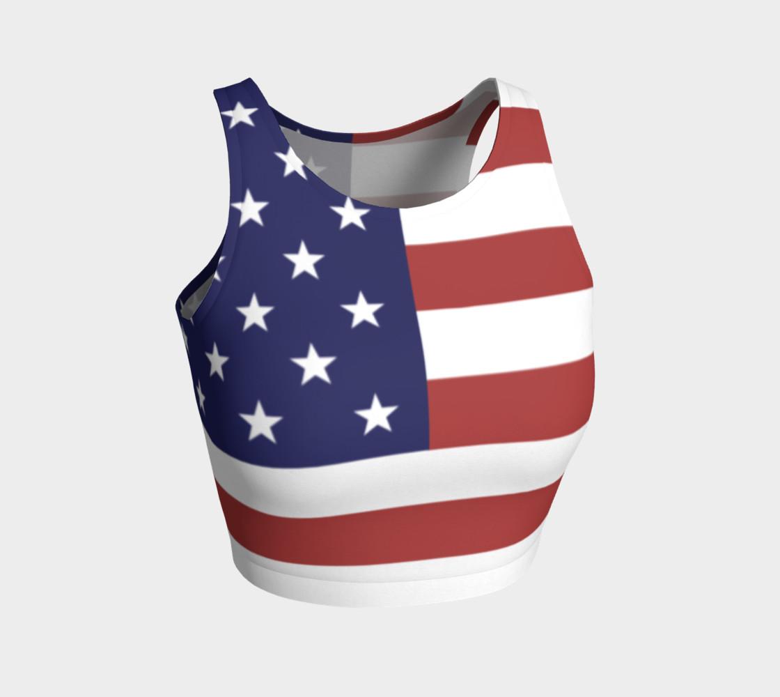 Aperçu de American Flag Crop Top #1