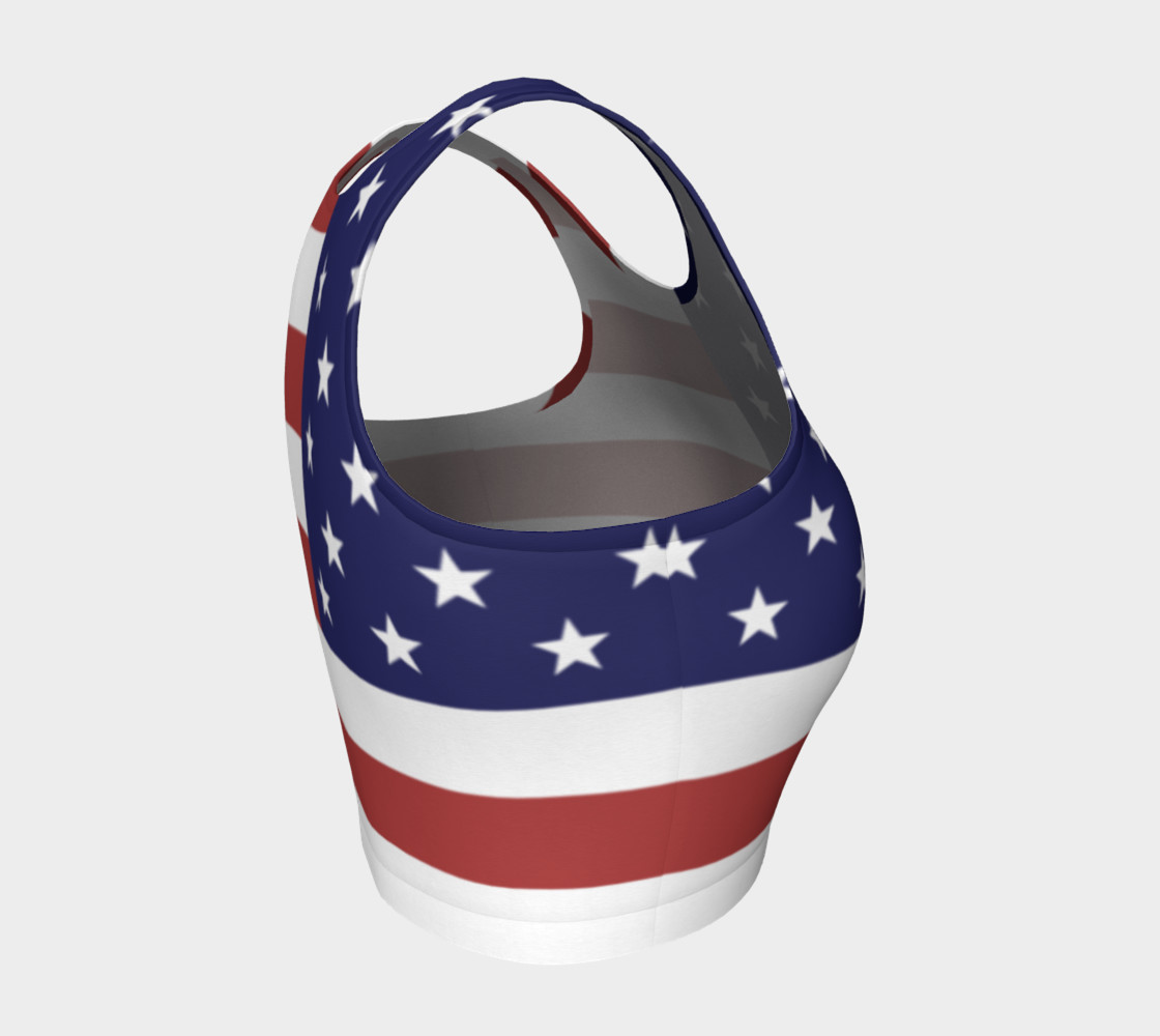 Aperçu de American Flag Crop Top #4
