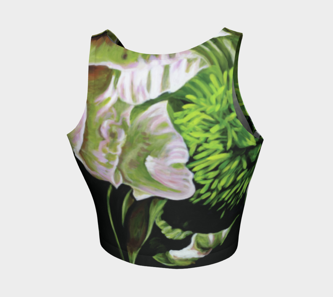 Peony Ride Athletic Crop Top Miniature #3