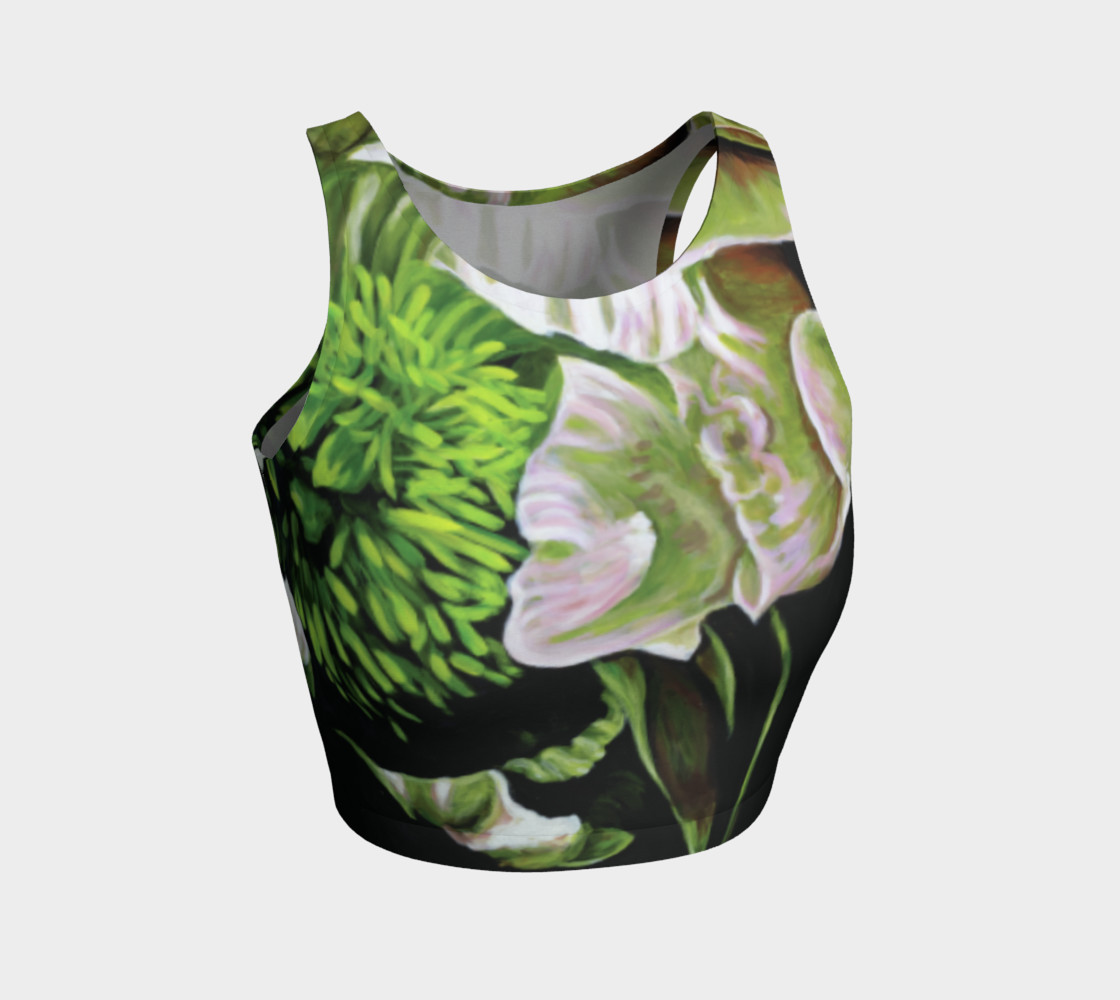 Peony Ride Athletic Crop Top Miniature #2