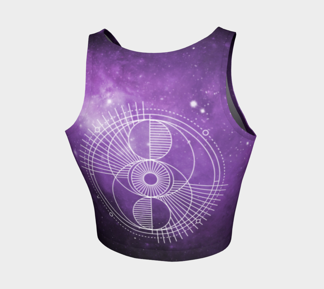Sacred geometry eye purple galaxy preview #2