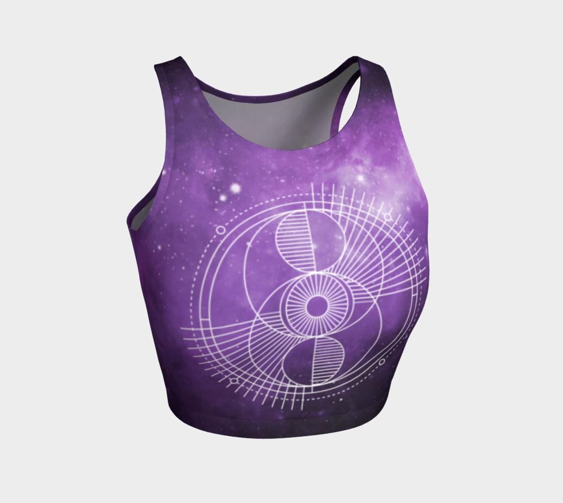 Sacred geometry eye purple galaxy preview #1
