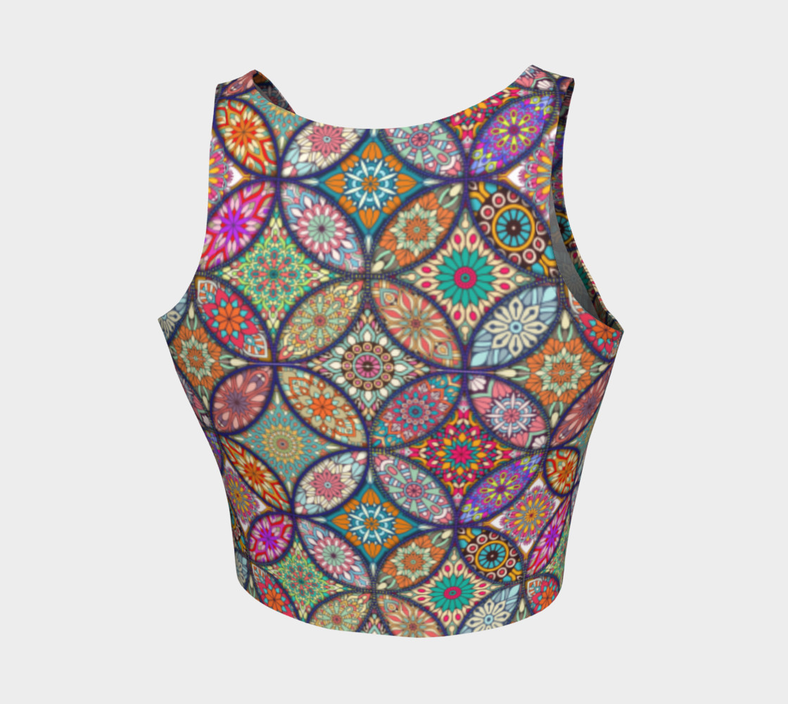 Vibrant Mandalas Athletic Crop Top preview #2