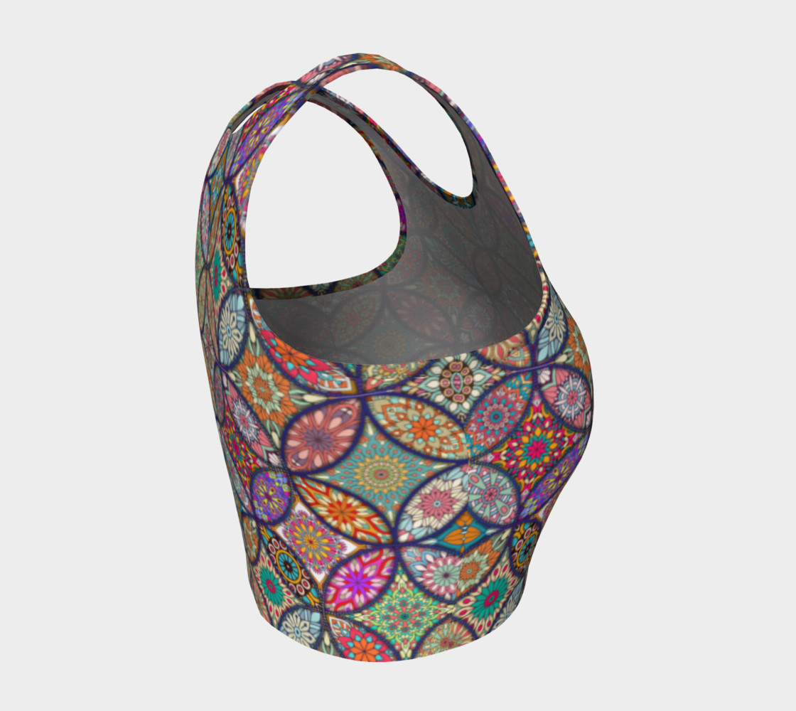 Vibrant Mandalas Athletic Crop Top preview #4