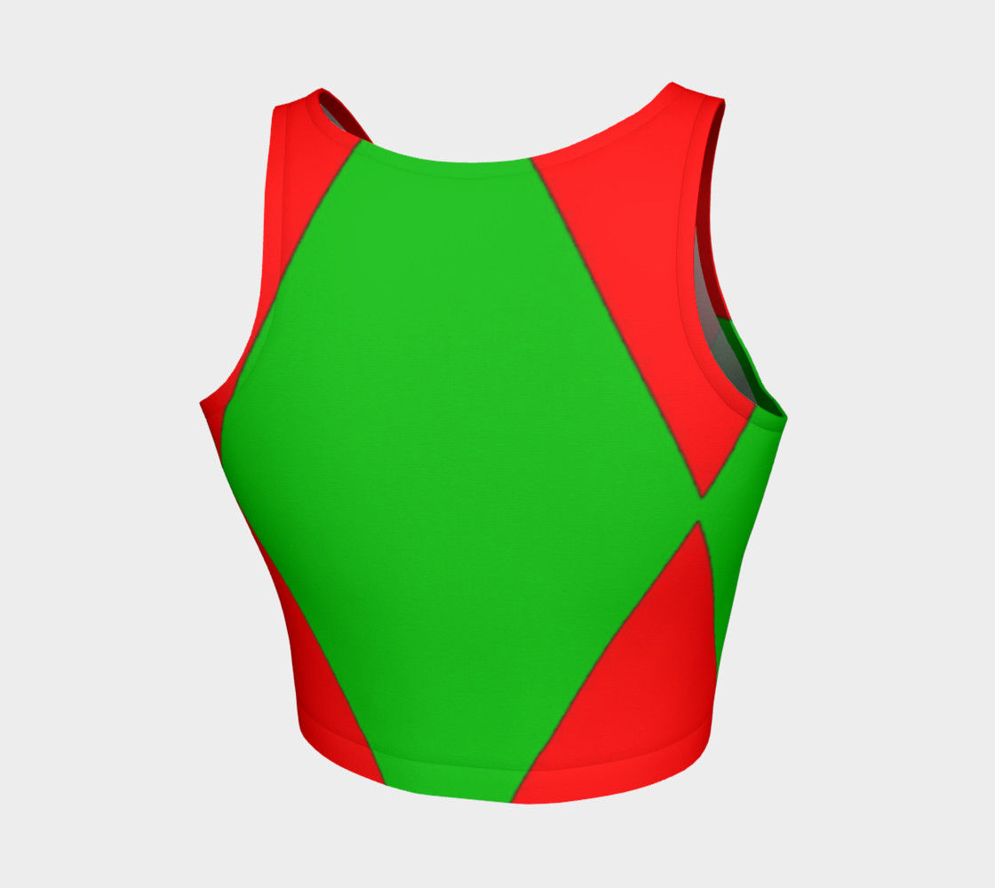 Christmas Harlequin Diamond Athletic Crop Top preview #2