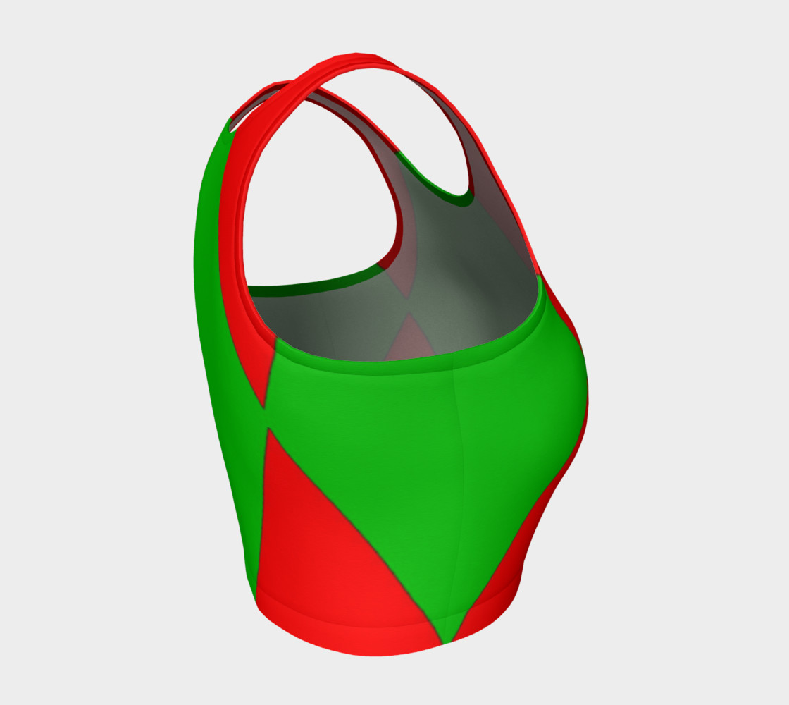 Christmas Harlequin Diamond Athletic Crop Top preview #4