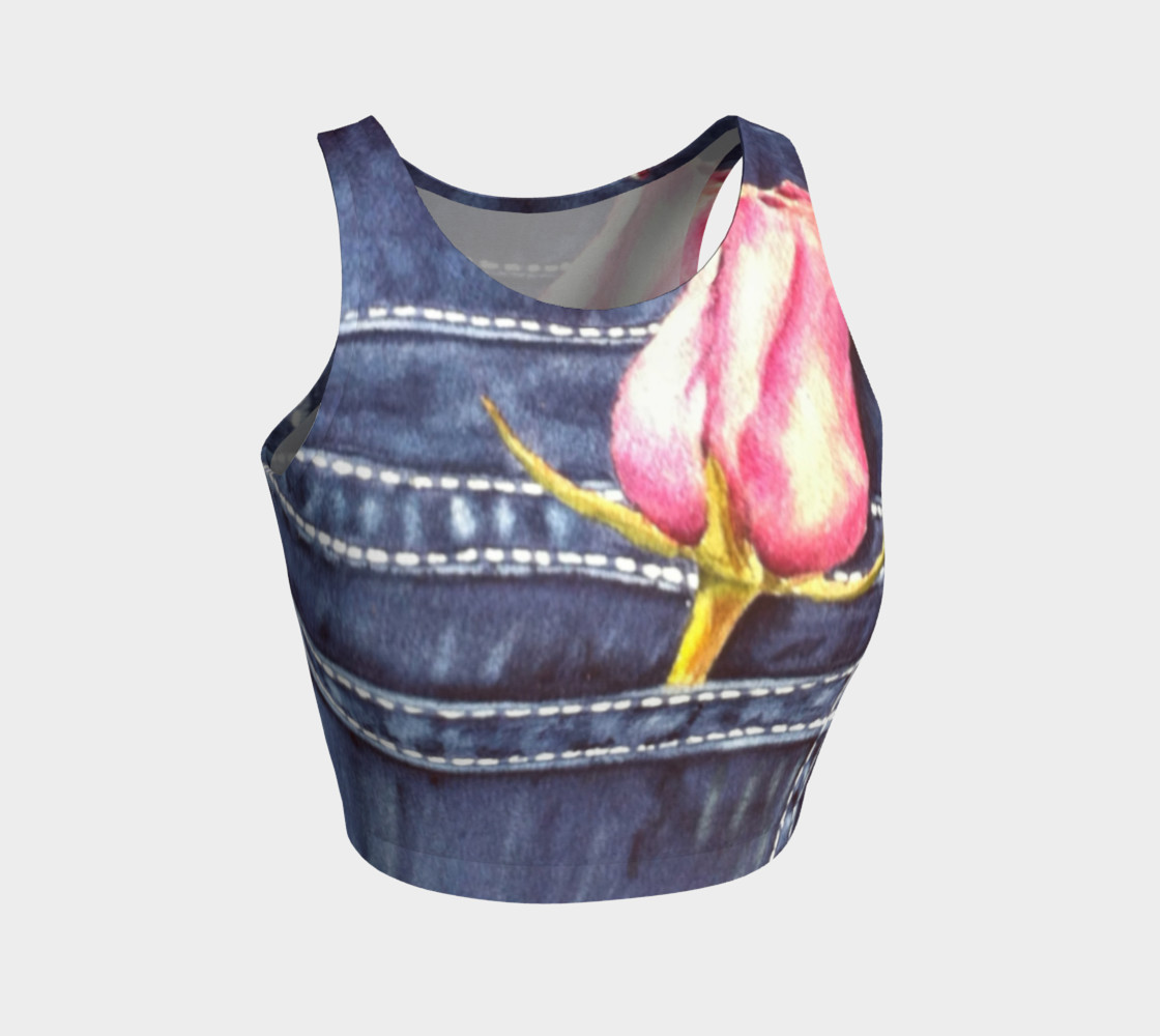 BLUE JEAN ROSE in WATERCOLOR preview #1